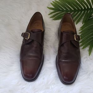 Bruno Magli Brown Buckle Dress Shoes